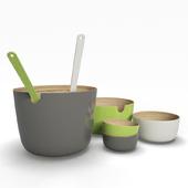 Set of bamboo bowls