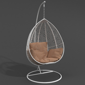 Кресло подвесное Gusto White