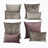 Restoration Hardware Cushions by Velvet Oushak Collection in FogWine