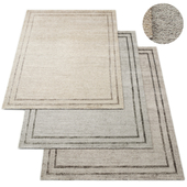 Parallel Border Hand-Knotted RH Rug Collection