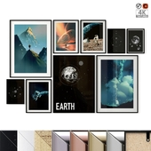 """Poster Set """"Space"""""""
