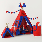 Wigwam Spiderman with cushions and basket