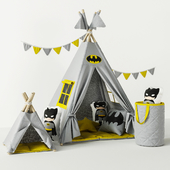 Wigwam Batman with cushions and basket