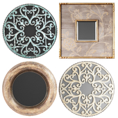 Collection of decorative mirrors. one