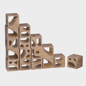 Set of wooden cubes