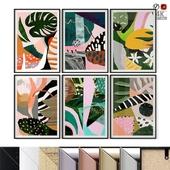 """Poster Set """"Abstract Garden"""""""