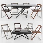 Table DAKOTA chair SKIP Calligaris