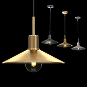 UTILITAIRE SLOPE METAL SHADE PENDANT