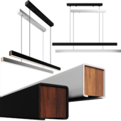 Mumu LED Linear Suspension by Seed Design