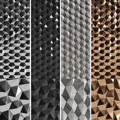 3D panels Hexagons