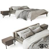 Floyd Hi Bed and Bedside Stilt by Living Divani