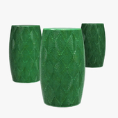 Bay isle home stave garden stool