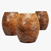 New pacific direct spear ceramic garden stool