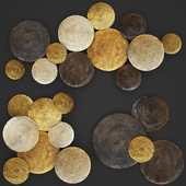 ART. Circles Wall Decor.