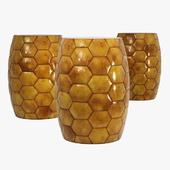 Rouge decor tortoise gold stool