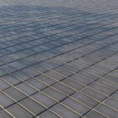 """Concrete paving slabs """"Rectangle"""" 200х100 mm Pattern 3 Dark gray"""