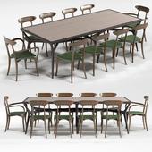 CeccottiCollezioni SEVENMILES table MA BELLE chairs