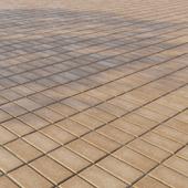 "Concrete paving slabs ""Rectangle"" 200х100 mm Pattern 3 Yellow"