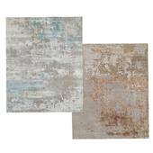 Lyto Hand-Knotted Silk Rug and Raku Hand-Knotted Rug Carpets
