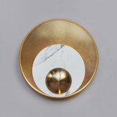 Sconce Ginger & Jagger Pearl Wall LAMP round gold