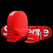 Supreme decorative set (red)