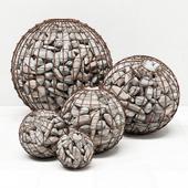 Gabion sphere pebble / Gabion Spherical Pebble
