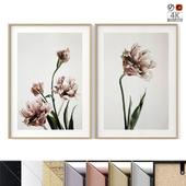 """Poster Set """"Pink Tulipe"""""""