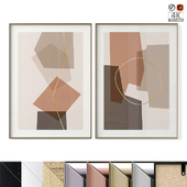 "Poster Set ""Abstract Boxes"""