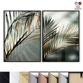 "Poster Set ""Gold And Green Palm"""