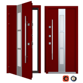 Entrance metal door Inox S-9 (Your Frame)