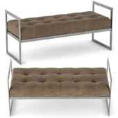 Ward velvet bench