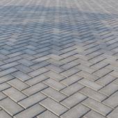 """Concrete paving slabs """"Rectangle"""" 200х100 mm Pattern 4 Gray"""