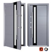 Entrance metal door Inox S-11 (Your Frame)