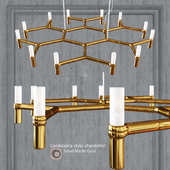 Chandelier EQUINOX CHANDELIER SMALL GOLD