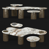 Apparatus Interlude marble table