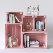 Decorative composition with drawers