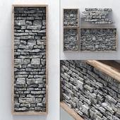 Panel stone frame / Панель из камня в раме