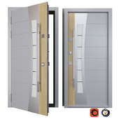 Entrance metal door Inox S-13 (Your Frame)