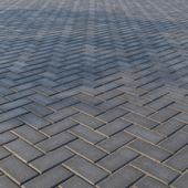 Бетонная тротуарная плитка «Прямоугольник» 200х100 мм Узор 4 Тёмно-серая