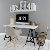 scandinavian desk set
