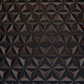 3D panels black Hexagons