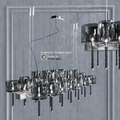 Chandelier AXO Light Spillray SP lamps 26 glass smoke