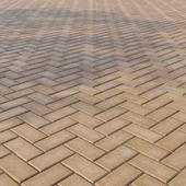 Бетонная тротуарная плитка «Прямоугольник» 200х100 мм Узор 4 Жёлтая