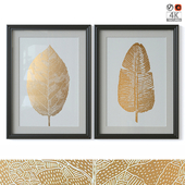 """Birch Leaf And Feather"""