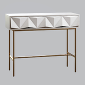 West Elm Sculpted Geo Console Parchment
