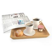 Breakfast Coffee Newspaper