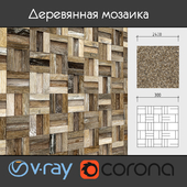 Wooden mosaic, 001