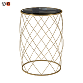 Round Brass Metal Table