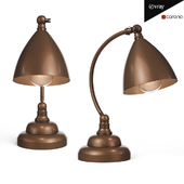 Brentwood Table Lamp Dark Brass