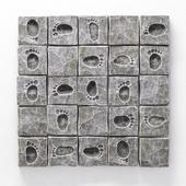 Panel stone imprint leg   /  Панель каменная с отпечатком ноги